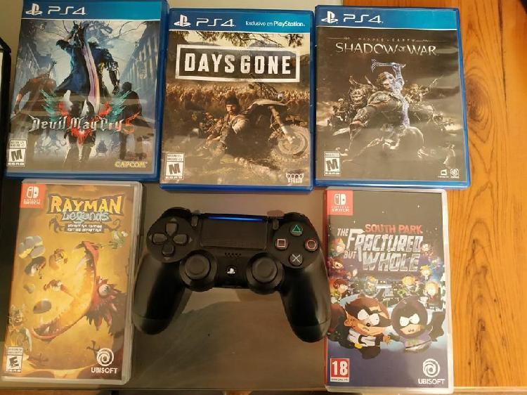 6 juegos ps4, 2 juegos nintendo switch y un mando ps4 v