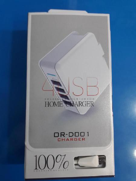 Cargador Celular Ultra Rápida, Tablet, Laptop 4 Usb 4,8a