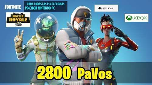 Fortnite 2800 Pavos Pc