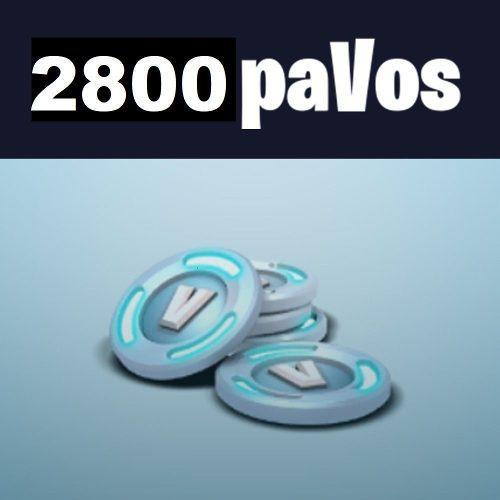 Fortnite Recarga De Pavos 2800 Pavos S/95soles 100% Legal