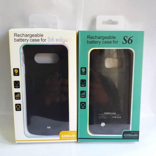 Case Batería Cargador S6 4200mah Negro Oficina Garantia