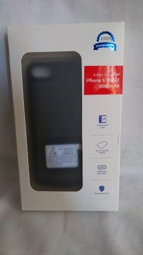Case Batería Cargador iPhone 5/5s/se 6000 Mah Negro Boleta