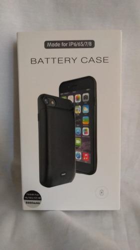 Case Batería Cargador iPhone 6/6s/7/8 6000 Mah Negro Boleta