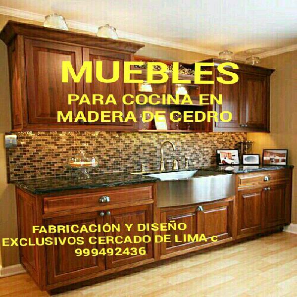 Muebles para cocinas exclusivos en madera de cedro lima