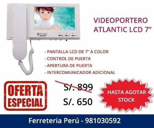 Atlántic Intercom Video Portero Intercomunicador A Colores