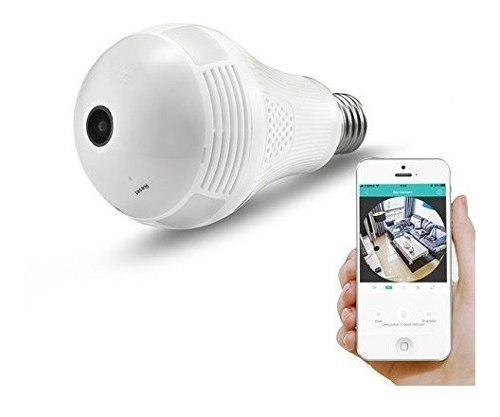 Camara Wifi Foco Espia Vigilancia Ip 360° Seguridad Hd 2019