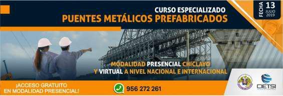 Curso especializado puentes metálicos prefabricados 2019