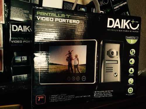 Daiko Video Portero Intercomunicador De 7 Pulgadas Pantalla