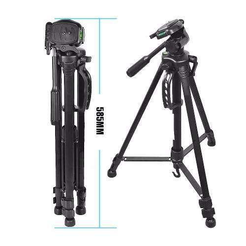 Trípode De Camara O Video 1.45mts Soporta 2kg P/canon Nikon