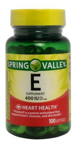 Vitamina E 400 Iu, 100 Softgels, Spring Valley