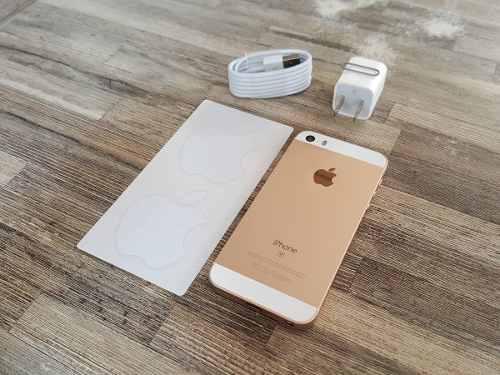 iPhone Se 64gb Libre 4g Dorado Gold Buen Estado + Accesorios