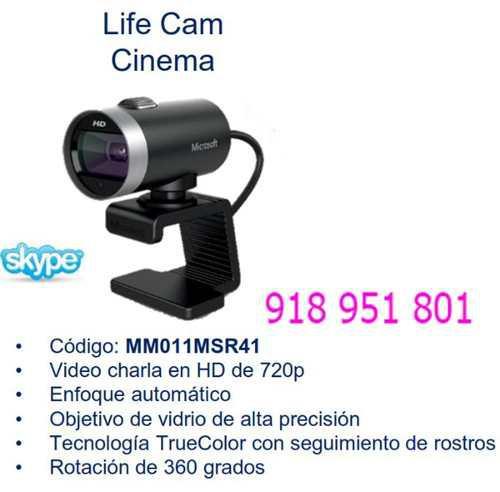Camara Web Microsoft Lifecam Cinema (H5d-00013) 720p Hd