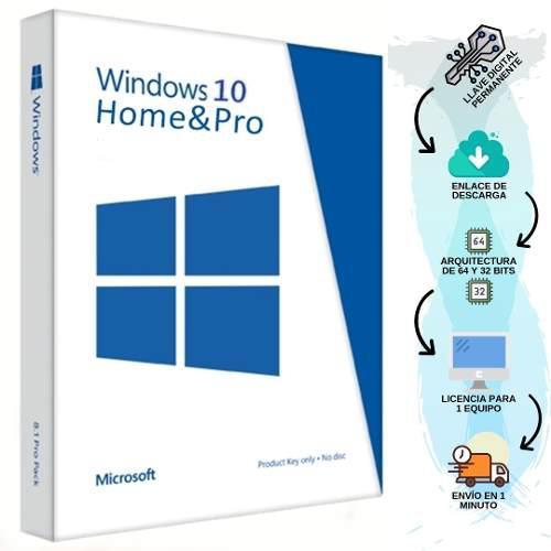 Licencia Windows 10 Pro Retail Original 1 Equipo Permanente