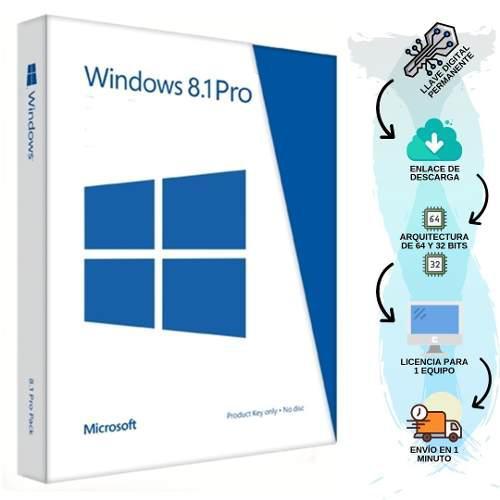 Licencia Windows 8.1 Pro Retail Original 1pc