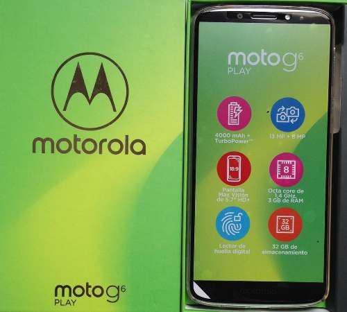 Moto G6 Play 32gb 3gb Ram 13mp 4000mah Tienda Y Garantia
