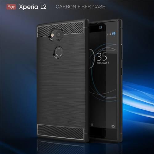 Funda Fibra Carbono Sony Xperia L1 - L2 - Xa2 Ultra