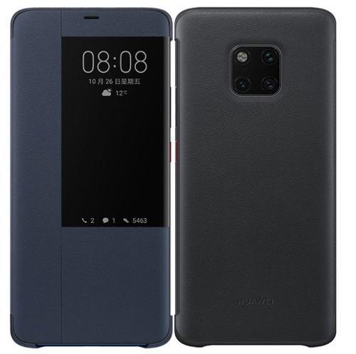 Huawei Mate 20 Pro Smart View Flip Cover / Azul - Negro