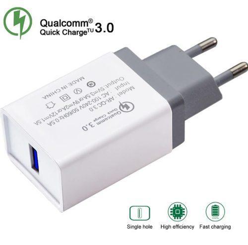 Cargador Carga Rápida Qc3.0 Incluye Cable Tipo C Qc3.0