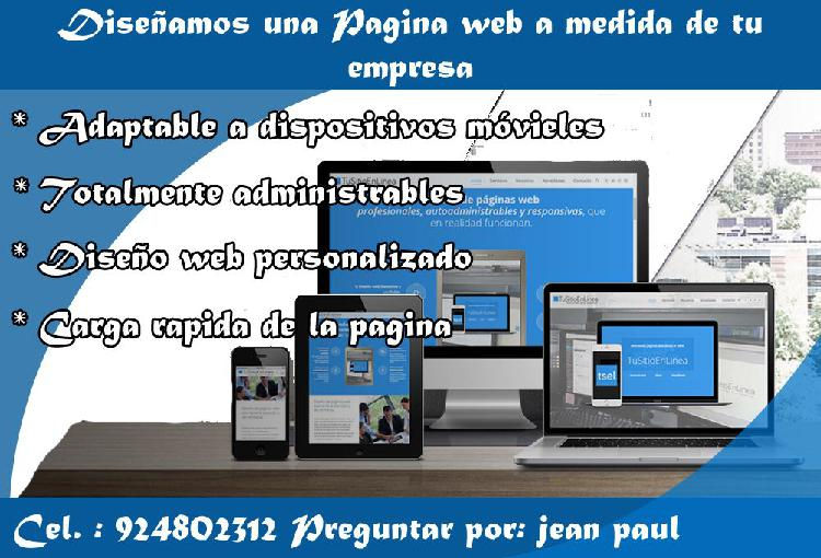 Diseñamos paginas web y Logo para tu empresa