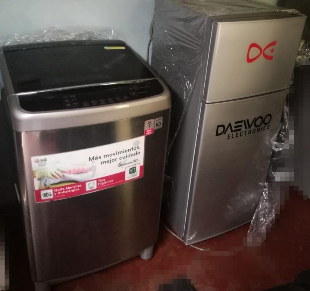 Lavadora Lg 13kg Y Refrigeradora Daewoo