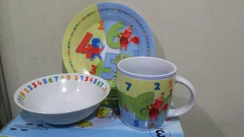 Set De Plato Para Niños / Bebe, Loza Higienico