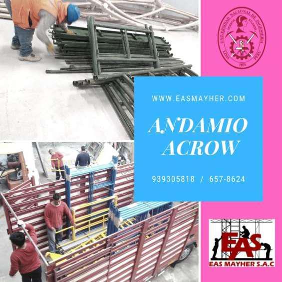 Andamios acrow en alquiler certificados en Lima