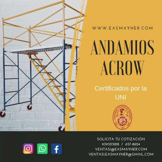 Andamios acrow en venta certificados en Lima
