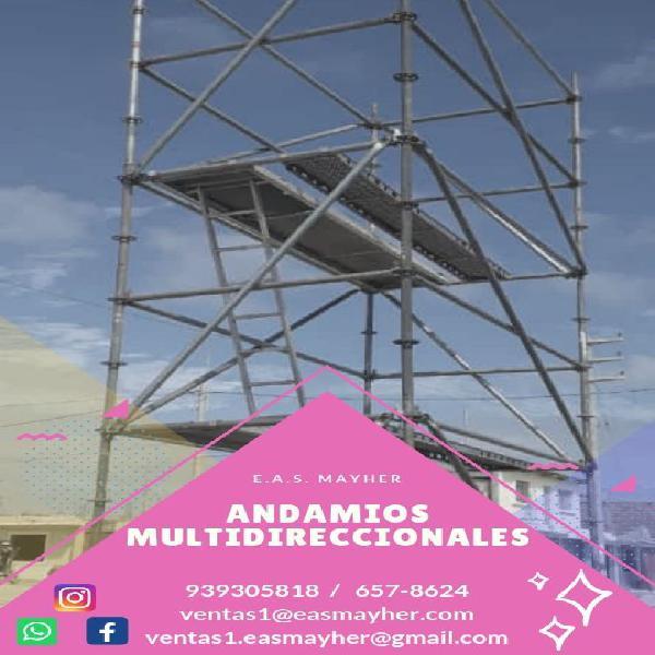 Andamios multidireccionales en venta en Lima