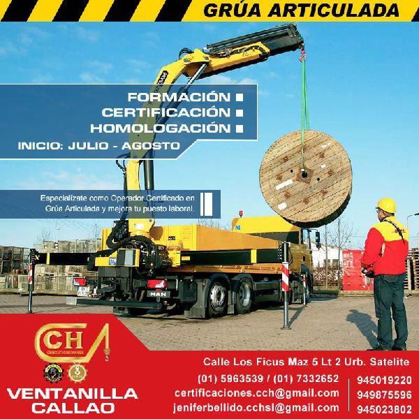CAPACITACION DE OPERADORES DE GRUA ARTICULADA, CERTIFICACION