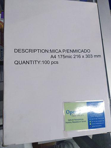 Micas Para Enmicadora A4 175mic