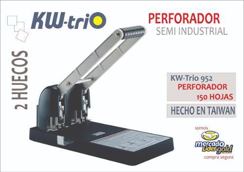 Perforador Semi Industrial Para 150 Hojas Kwtrio 952