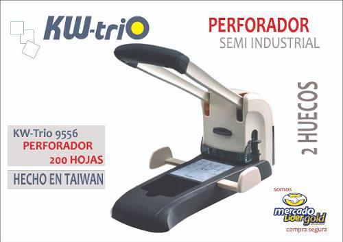 Perforador Semi Industrial Para 200 Hojas Kwtrio 9556
