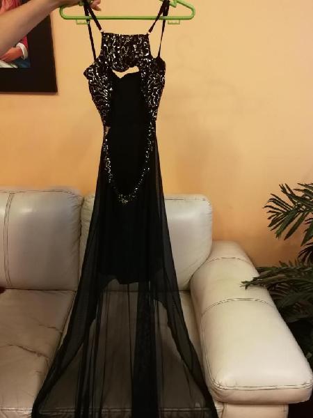 Vestido de fiesta Talla S con detalles de lentejuelas