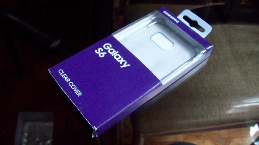 Clear Cover para Samsung S6 Usado Original