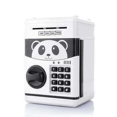 Alcancía Panda Caja Fuerte Billetes Monedas Luces Y Sonido