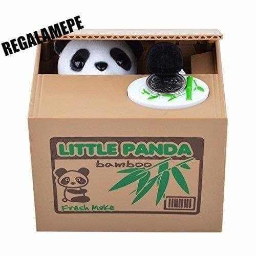 Alcancia De Oso Panda Roba Monedas