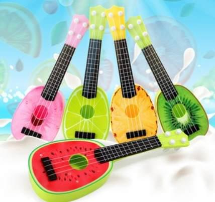 Mini Guitarras Ukeleles De Frutas Para Niños Juguete