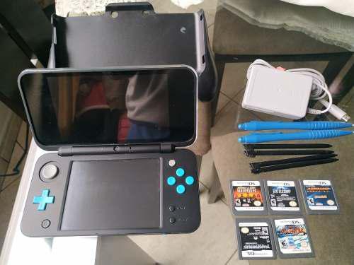 New Nintendo 2ds Xl Turquesa Con Negro