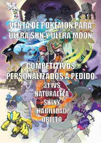 Pokémon Competitivos, Personalizados: Ultra Sol Y Ultra