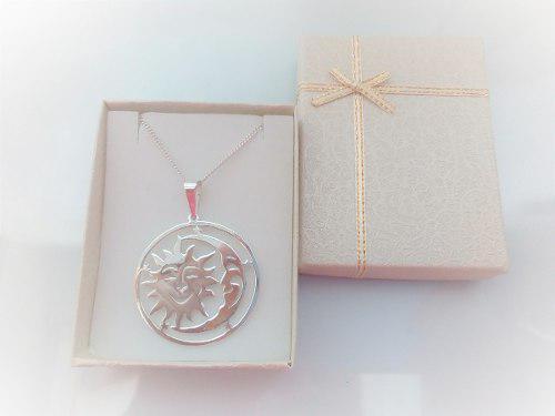 Dije Mandala Sol Y Luna- Para Mujer En Plata 950.-