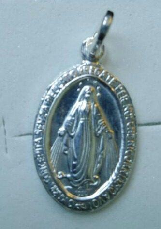 Medalla De La Virgen Milagrosa En Plata
