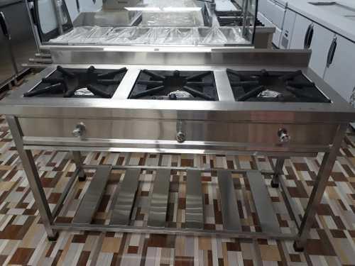Cocina Industrial De 3 Hornillas Somos Fabricantes Inoxchef