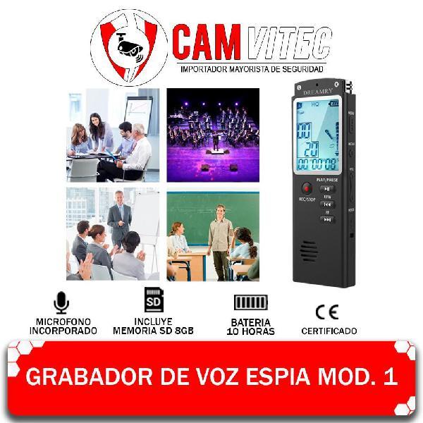 Grabadora De Voz Espía, 8gb Audio Digital Hd 10h