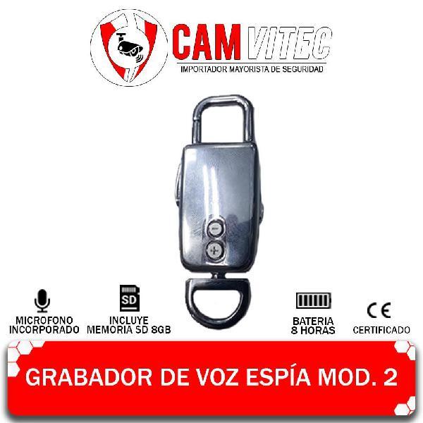 Grabadora De Voz Espia, 8gb Audio Digital Hd 8h