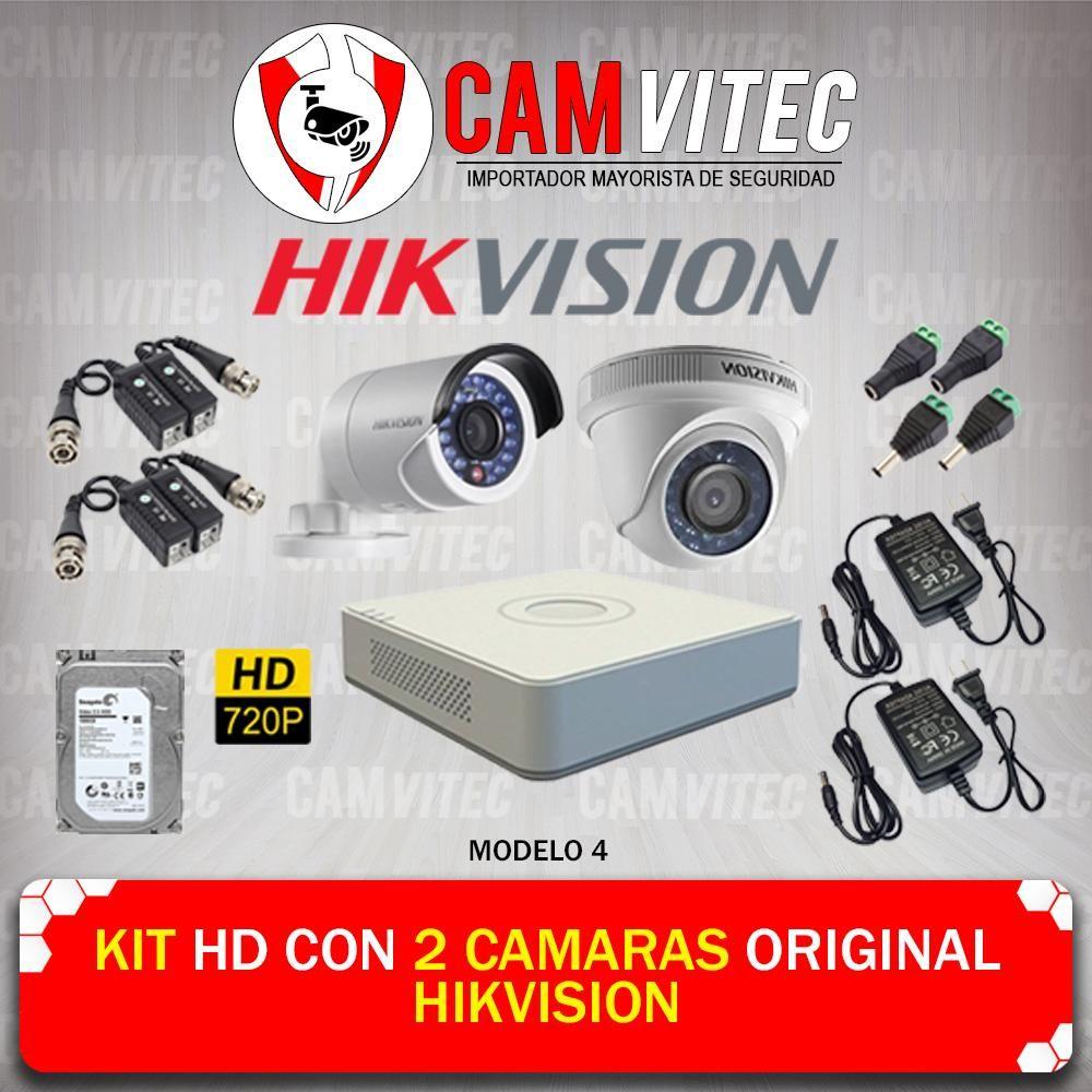 Kit HD 720p con 2 Cámaras Original Hikvision