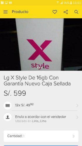 Lg X Style Nuevo En Caja U Sellado