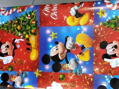 Papel De Regalo Diseño Navidad Mickey X 5 Unidades