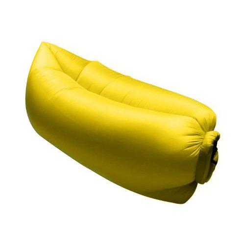 Sofa Inflable Portatil Intense Device, Amarillo.