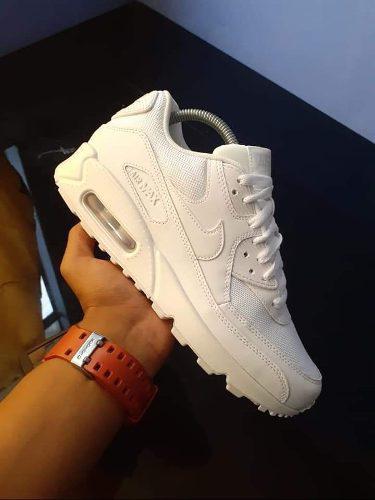 Zapatillas Nike Air Max 90 De Hombre Color Blanco