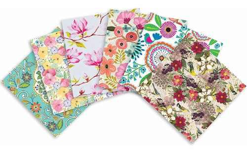 Decoupage 24 Hojas Papel Tissue Florales Manualidades